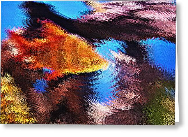 Artistic Fish Abstraction Greeting Cards - Aquarium Art 1 Greeting Card by Steve Ohlsen