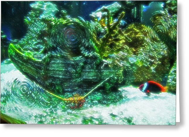 Artistic Fish Abstraction Greeting Cards - Aquarium Art 10 Greeting Card by Steve Ohlsen