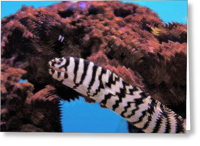 Artistic Fish Abstraction Greeting Cards - Aquarium Art 14 Greeting Card by Steve Ohlsen