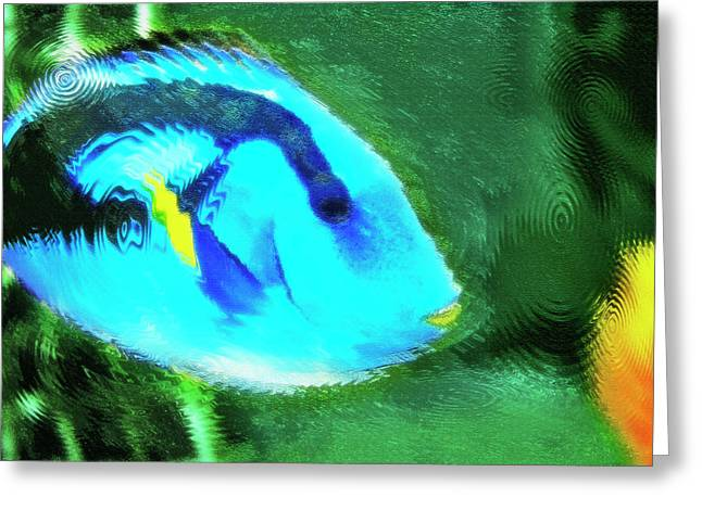 Artistic Fish Abstraction Greeting Cards - Aquarium Art 19 Greeting Card by Steve Ohlsen