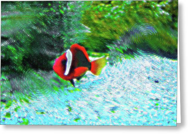 Artistic Fish Abstraction Greeting Cards - Aquarium Art 21 Greeting Card by Steve Ohlsen
