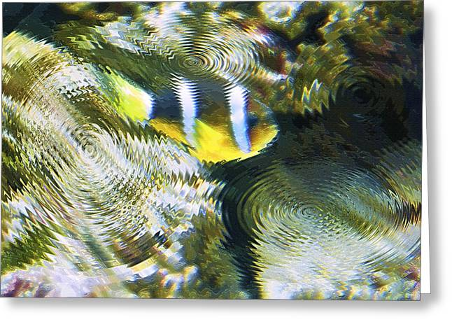 Artistic Fish Abstraction Greeting Cards - Aquarium Art 24 Greeting Card by Steve Ohlsen