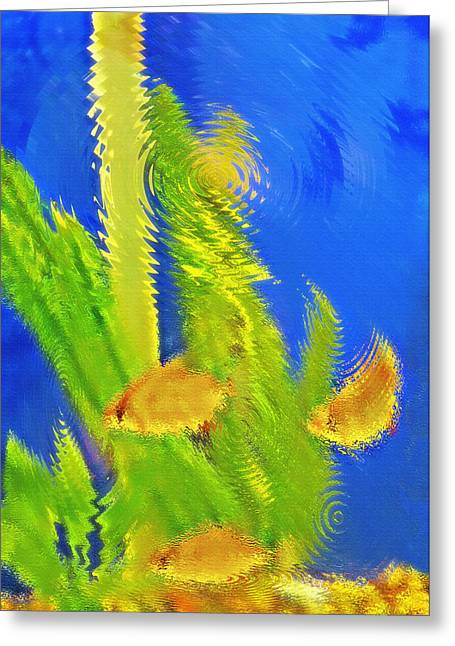 Artistic Fish Abstraction Greeting Cards - Aquarium Art 4 Greeting Card by Steve Ohlsen