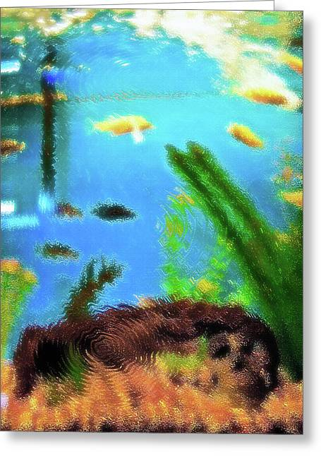 Pastimes Greeting Cards - Aquarium Art 5 Greeting Card by Steve Ohlsen