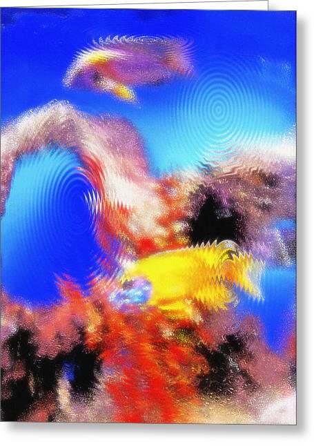 Aquarium Art 8 Greeting Card by Steve Ohlsen