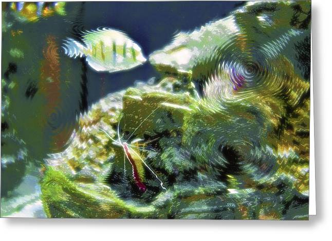 Artistic Fish Abstraction Greeting Cards - Aquarium Art 9 Greeting Card by Steve Ohlsen