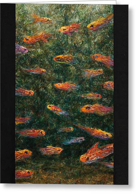 Aquariums Greeting Cards - Aquarium Greeting Card by James W Johnson