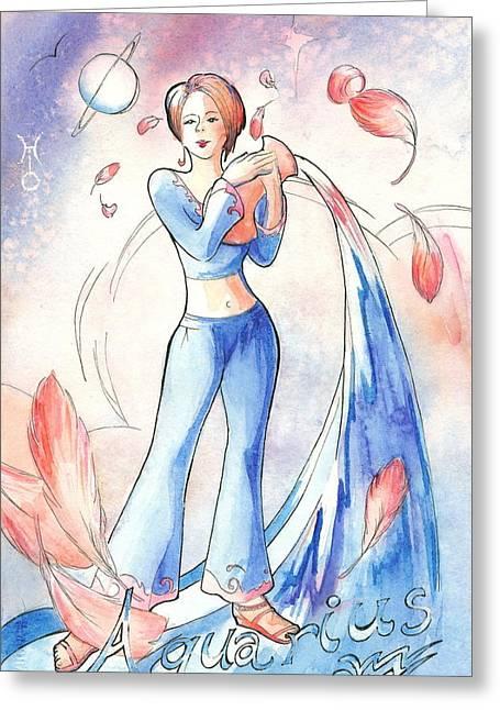Arwen Greeting Cards - Aquarius Greeting Card by Arwen De Lyon