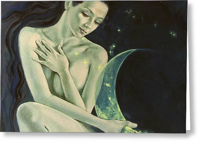 Aquarius from  Zodiac signs series Greeting Card by Dorina  Costras