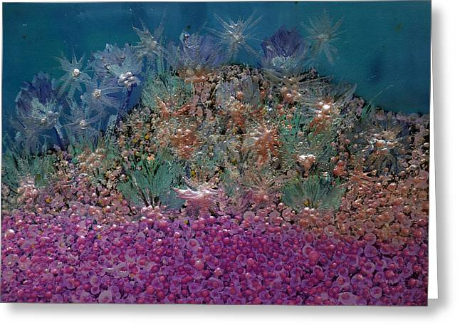 Green Ocean With White Water Greeting Cards - Aquarius Painting Greeting Card by Don  Wright