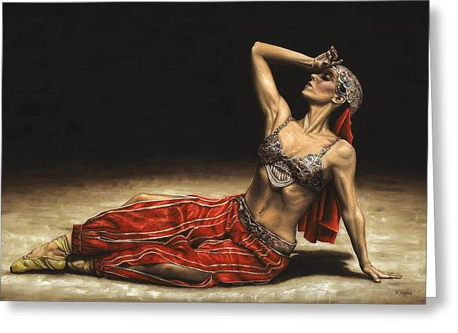 Dancer Art Greeting Cards - Arabian Coffee Awakes Greeting Card by Richard Young
