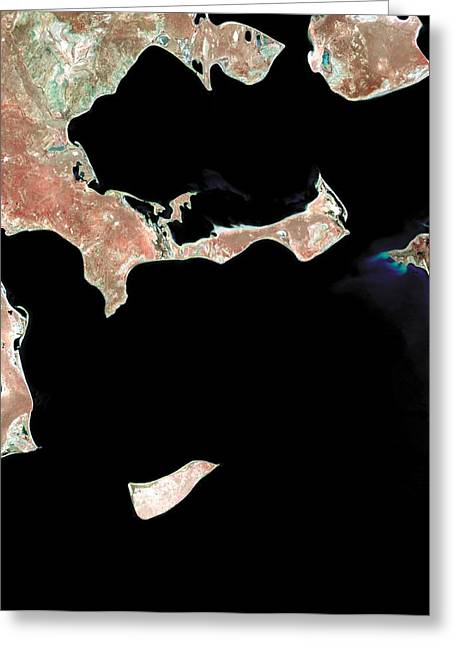 Desertification Greeting Cards - Aral Sea, Satellite Image, 1973 Greeting Card by Nasa