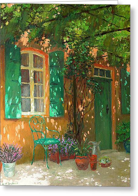 Gardening Greeting Cards - Arbour Greeting Card by William Ireland