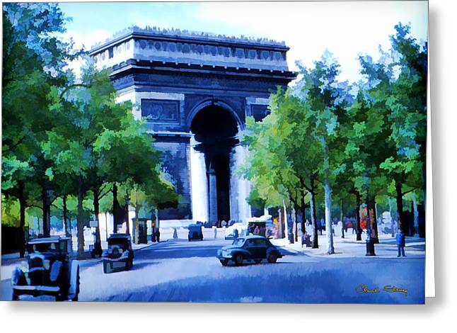 Arc de Triomphe 1954 Greeting Card by Chuck Staley