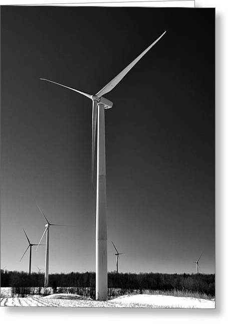 Recently Sold -  - Generators Greeting Cards - Arcade Wind Turbines 6557 Greeting Card by Guy Whiteley