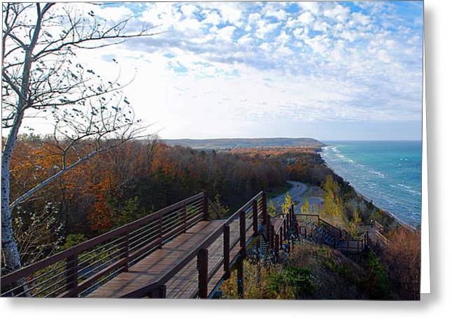 Traverse City Greeting Cards - Arcadia Overlook in Fall Greeting Card by Twenty Two North Photography