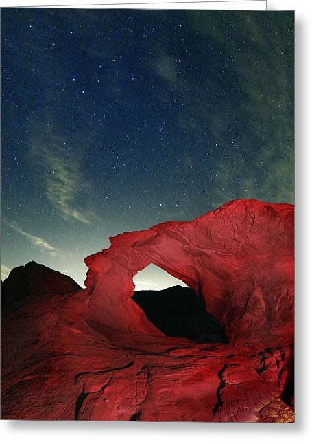 Star Valley Photographs Greeting Cards - Arch and Stars Greeting Card by Rick Berk