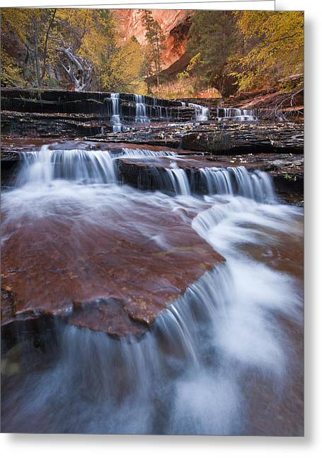 Fall Photos Greeting Cards - Arch Angel Falls Greeting Card by Joseph Rossbach