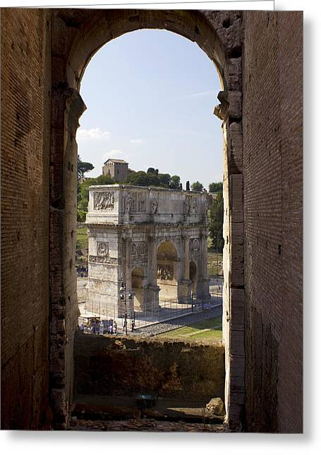 Domitian Greeting Cards - Arch Of Titus Greeting Card by Darren Burroughs