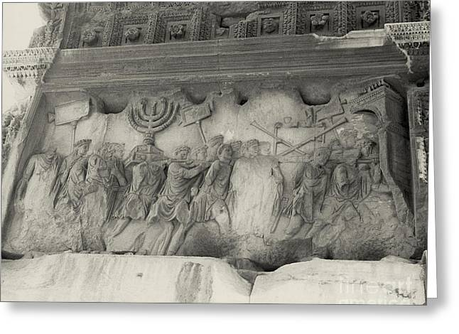 Jewish History Greeting Cards - Arch Of Titus, Rome, Italy Greeting Card by Photo Researchers, Inc.
