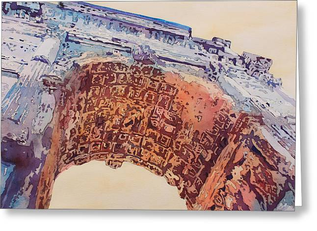 Jerusalem Paintings Greeting Cards - Arch of Titus Two Greeting Card by Jenny Armitage