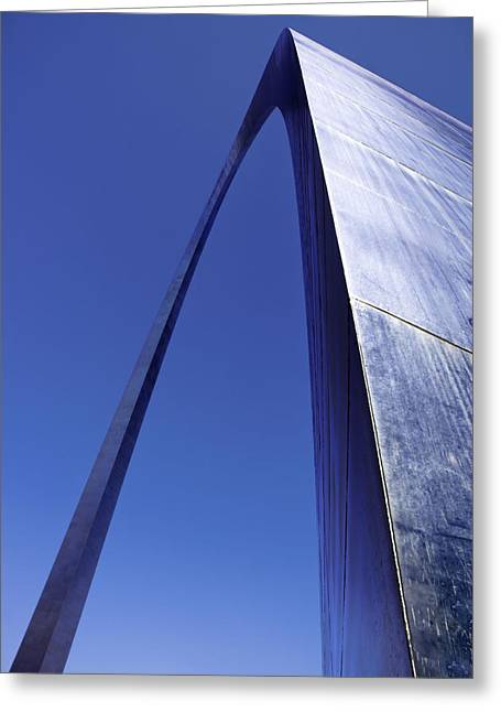 National Memorial Greeting Cards - Arch One Color Greeting Card by Paul Basile
