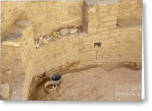 Adobe Greeting Cards - Archaeological Dig Site Greeting Card by Bryan Mullennix