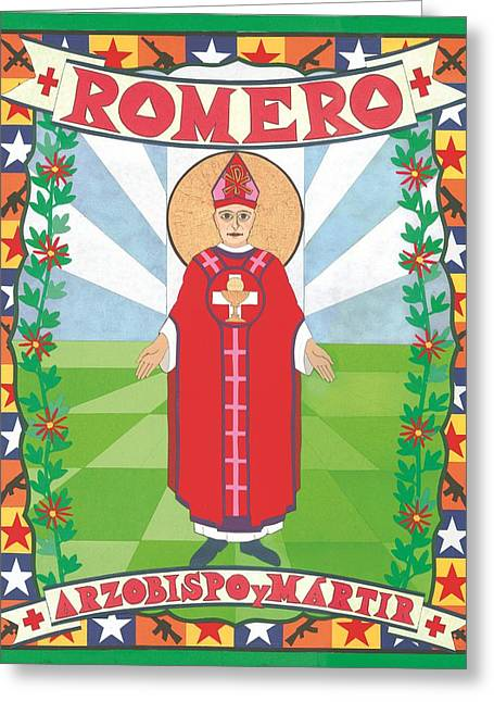 Archbishop Romero Icon Greeting Card by David Raber