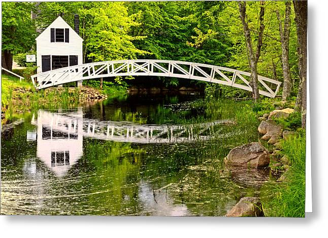 Arched Bridge-Somesville Maine Greeting Card by Thomas Schoeller