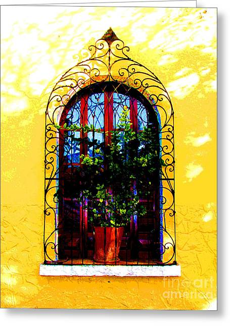 Gypsy Greeting Cards - Arched Window by Darian Day Greeting Card by Olden Mexico