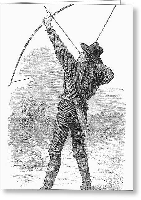 1880s Greeting Cards - ARCHERY, c1880s Greeting Card by Granger