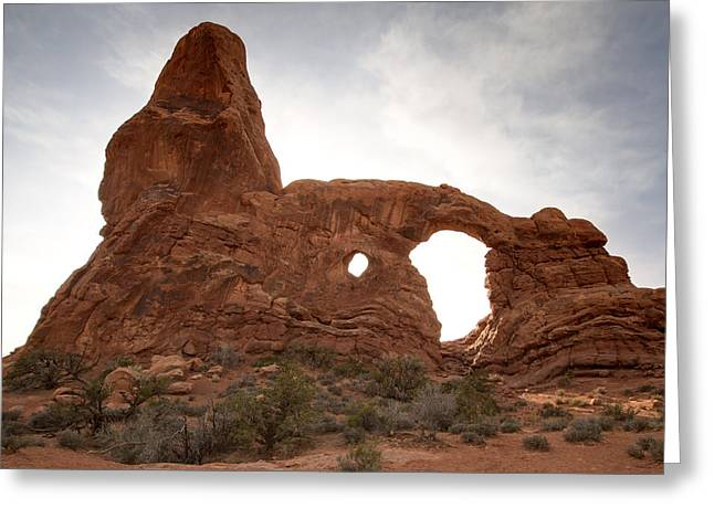 Arches N P Turret Arch Greeting Card by Paul Cannon