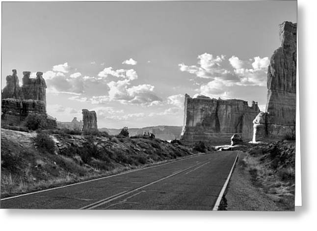 Monolith Greeting Cards - Arches National Park Greeting Card by Ellen Heaverlo
