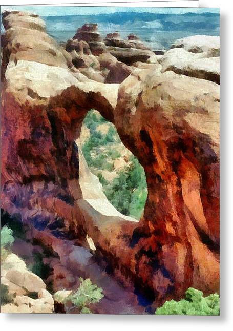 Landform Digital Greeting Cards - Arches National Park Greeting Card by Michelle Calkins