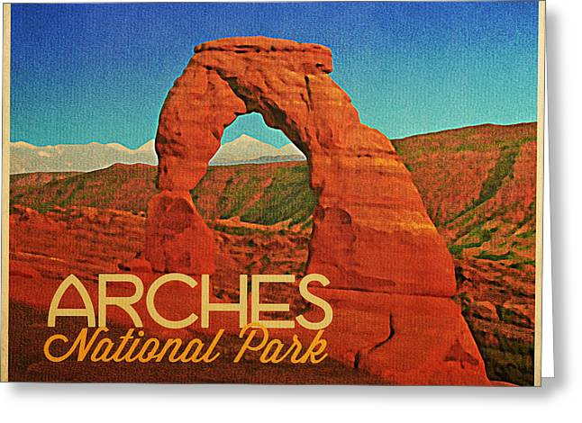 Arches National Park Digital Greeting Cards - Arches National Park Greeting Card by Flo Karp