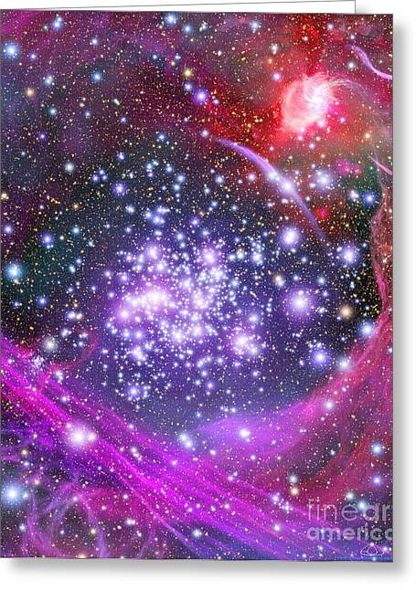 1900s Greeting Cards - Arches Supermassive Star Cluster, Art Greeting Card by NASA / ESA / Space Telescope Science Institute