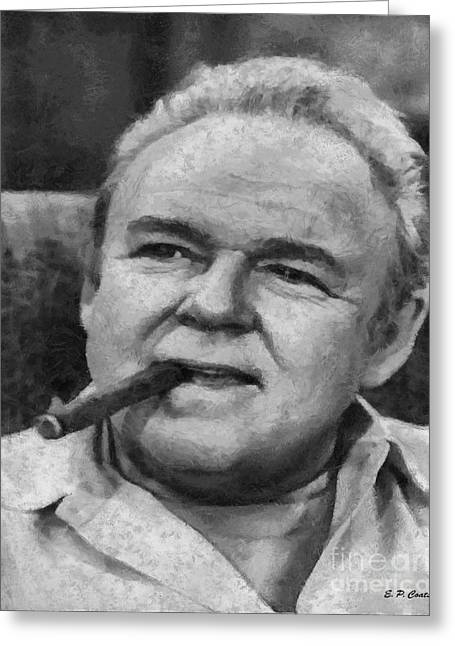 Archie Bunker Paintings Greeting Cards - Archie Bunker Greeting Card by Elizabeth Coats