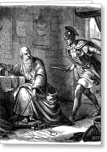 2nd Greeting Cards - ARCHIMEDES (c287-212 B.C.) Greeting Card by Granger