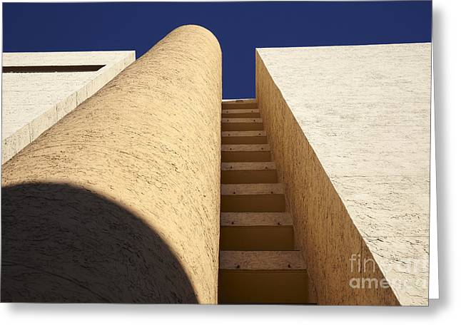 Architectural Design Greeting Cards - Architectural abstract Greeting Card by Tony Cordoza