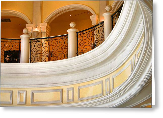 Architectural Curves Greeting Card by Kristin Elmquist