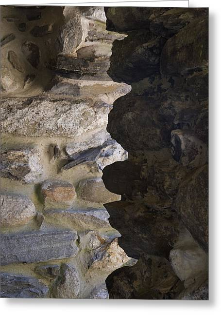 East Haddam Connecticut Greeting Cards - Architectural Detail Of Stone Work Greeting Card by Todd Gipstein