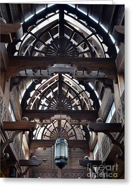 Outdoor Market Greeting Cards - Architectural Details Greeting Card by Corinne Rhode