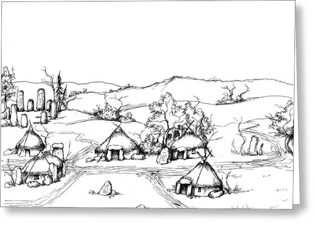 Development Drawings Greeting Cards - Architectural Evolution in an Urban Landscape 1 Greeting Card by James Falciano
