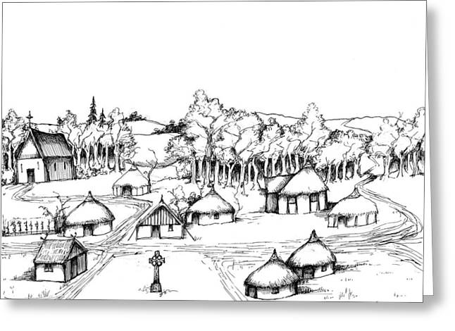 Development Drawings Greeting Cards - Architectural Evolution in an Urban Landscape 2 Greeting Card by James Falciano