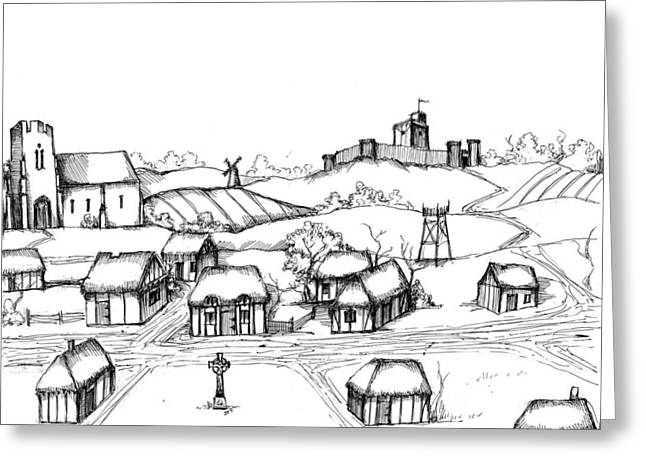 Development Drawings Greeting Cards - Architectural Evolution in an Urban Landscape 3 Greeting Card by James Falciano