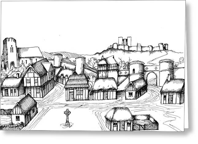 Development Drawings Greeting Cards - Architectural Evolution in an Urban Landscape 4 Greeting Card by James Falciano