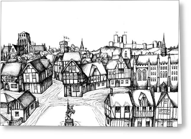 Development Drawings Greeting Cards - Architectural Evolution in an Urban Landscape 5 Greeting Card by James Falciano