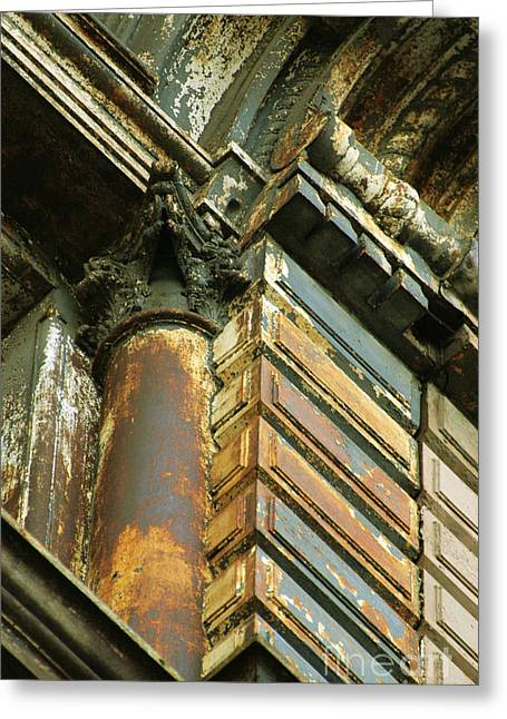 Brdige Greeting Cards - Architectural Patina Greeting Card by Anahi DeCanio