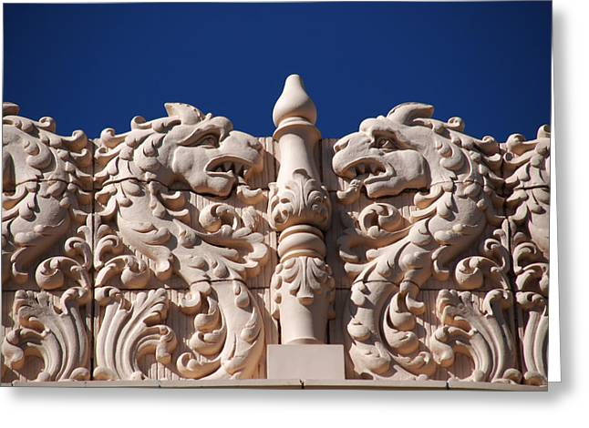 Architectur Greeting Cards - Architecture at the Lensic Theater in Santa Fe Greeting Card by Susanne Van Hulst