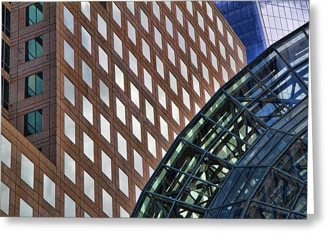 American Icons Photographs Greeting Cards - Architecture Building Patterns Greeting Card by David Smith